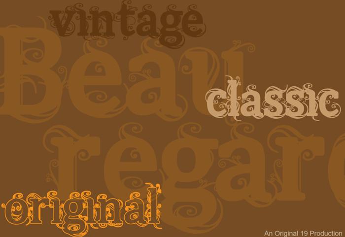 Beauregard Font poster