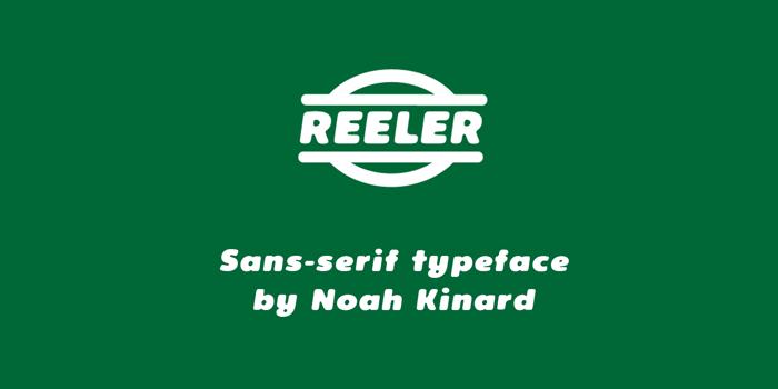 Reeler Font poster