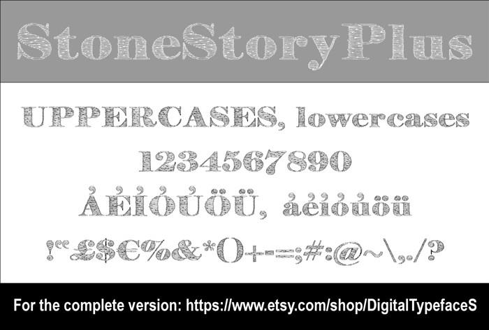 StoneStoryPlusP Font poster