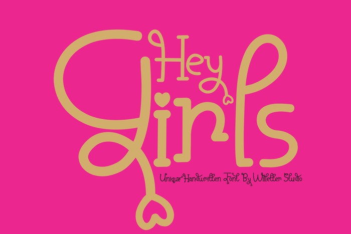 Hey Girls Font poster