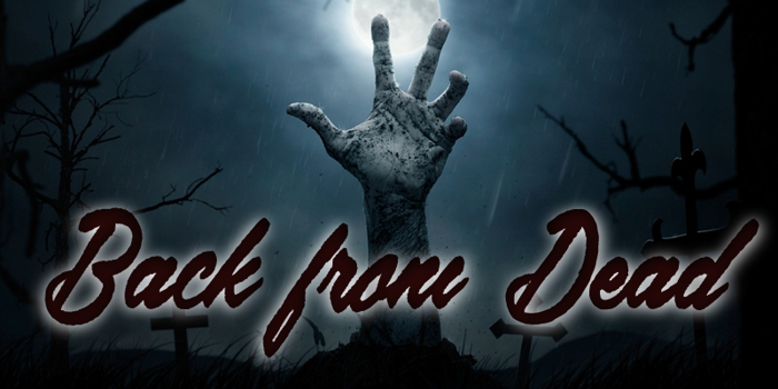Back from the Dead Font poster