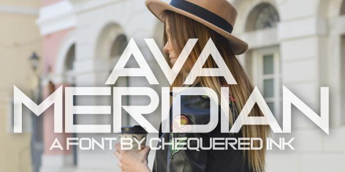 Ava Meridian Font poster