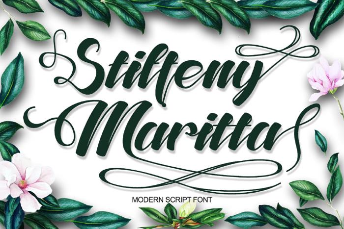 Stiffeny Maritta Font poster