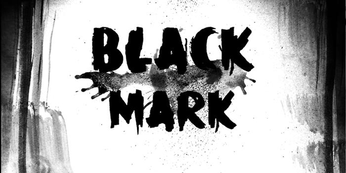DK Black Mark Font poster
