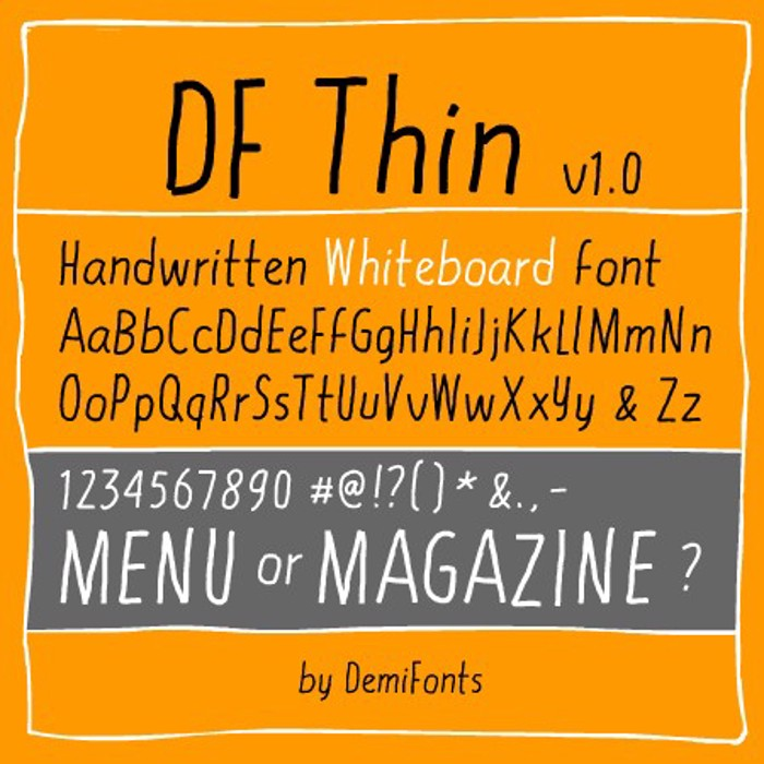 DF Thin Font poster