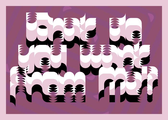 Organics Font poster