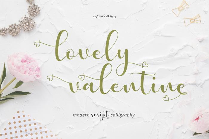 lovely valentine Font poster