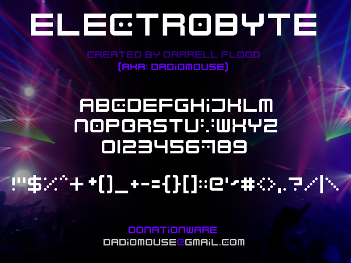 Electrobyte Font poster