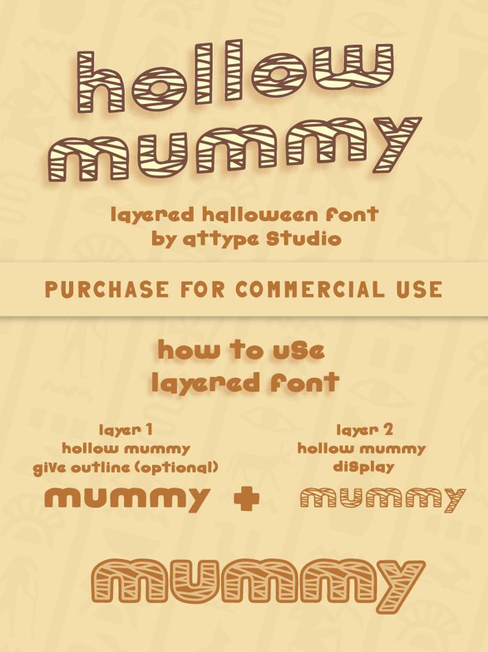 hollow mummy Font poster