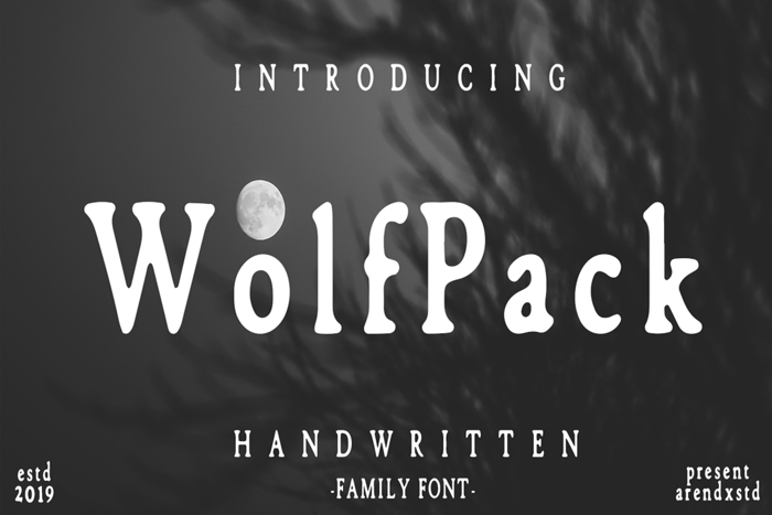 Wolfpack Font poster