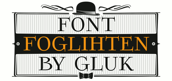 Foglihten Font poster