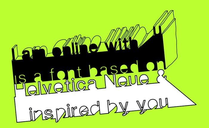 I am online with u Font poster