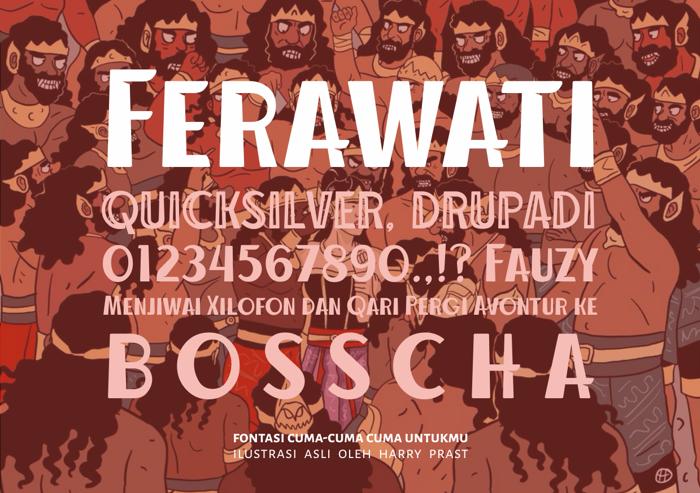 Ferawati Font poster