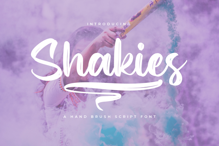 Shakies Font poster