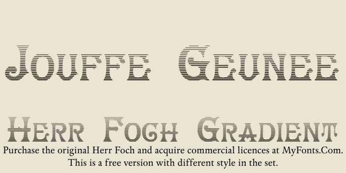 HerrFoch Font poster