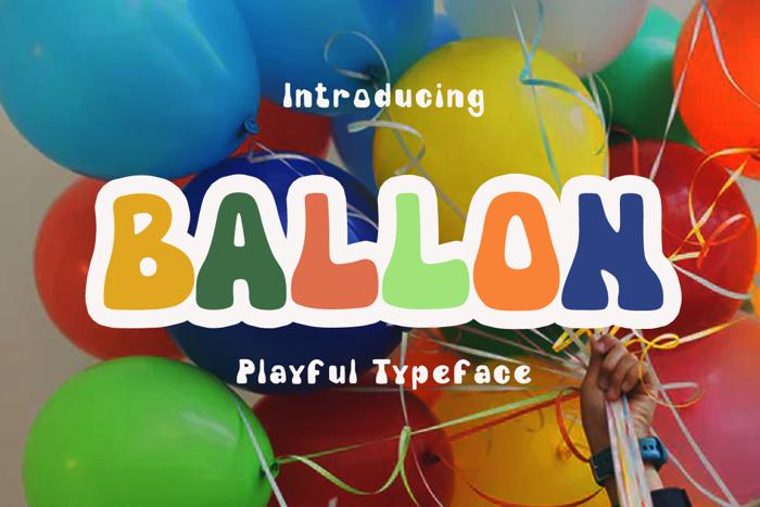 Ballon dor Font poster