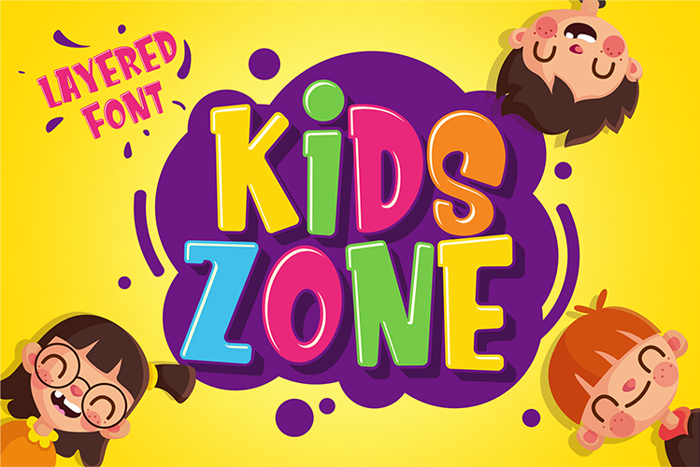 Kids Zone Font poster