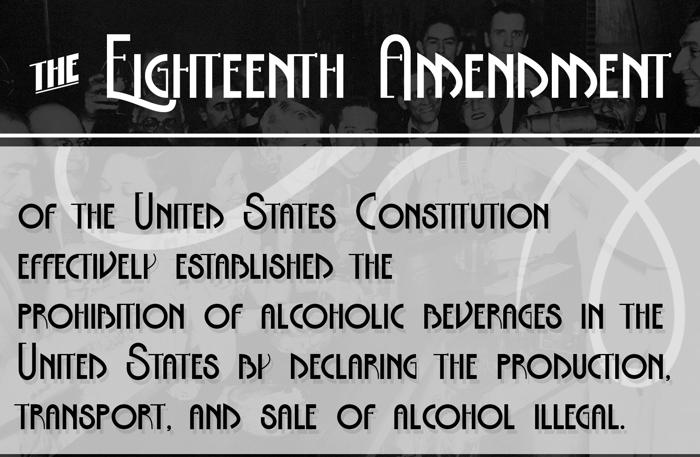 The Eighteenth Amendment Bold Font poster
