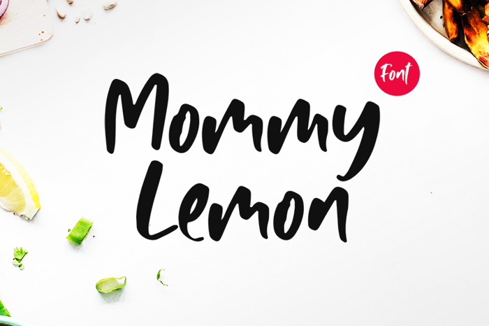 Mommy Lemon Font poster