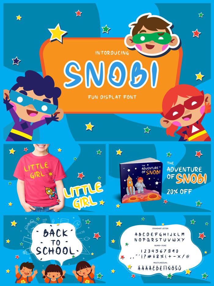 Snobi Font poster