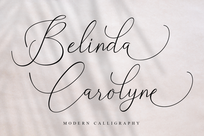 Belinda Carolyne Font poster