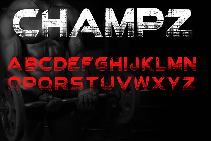 Champz Font poster