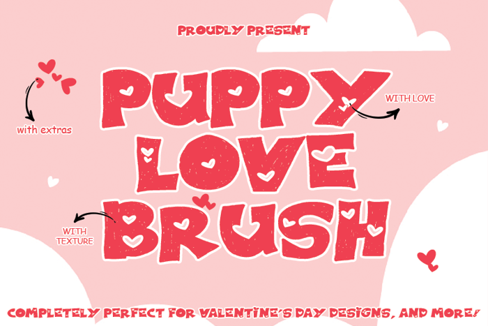PUPPY LOVE BRUSH Font poster
