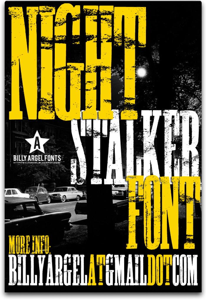 NIGHT STALKER Font poster