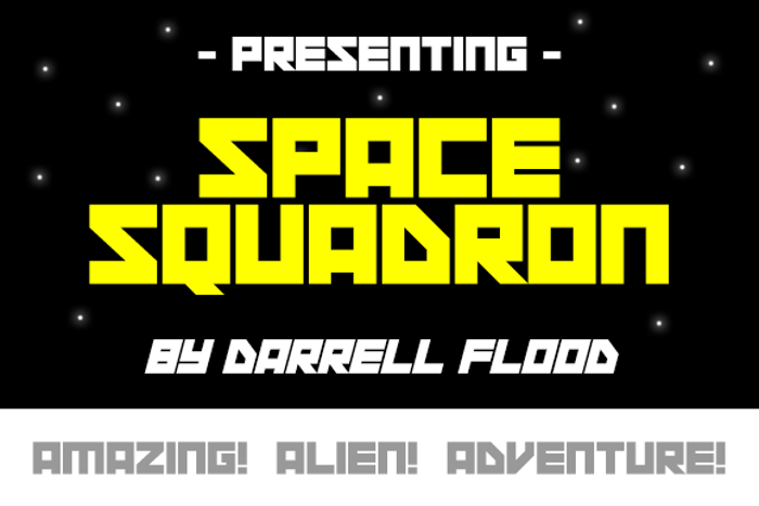 Space Squadron Font poster