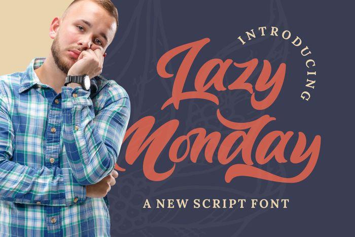 Lazy Monday Font poster