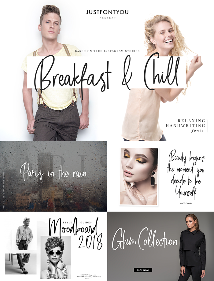 Breakfast And Chill Font poster