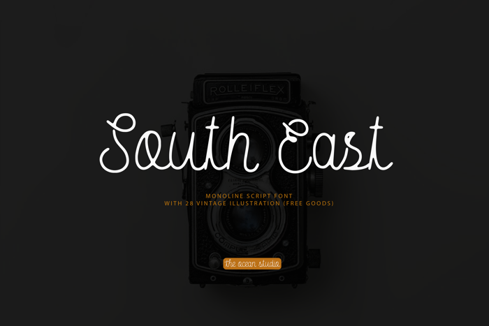 South East Free Rough Font poster