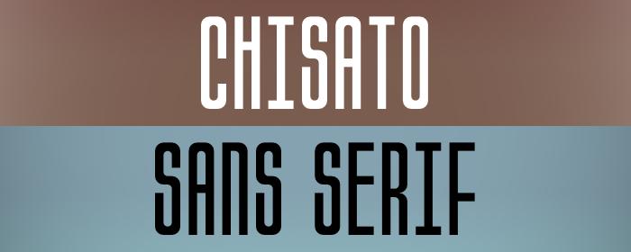 Chisato Font poster