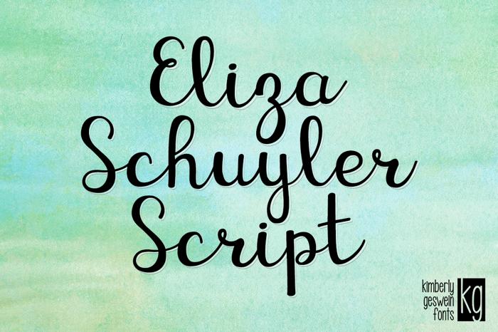 KG Eliza Schuyler Script Font poster