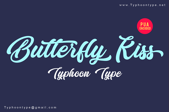 Butterfly Kiss Font poster