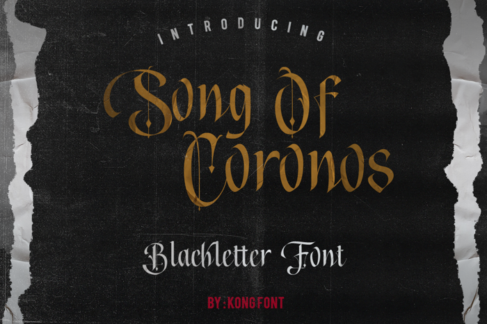 Song of coronos Font poster
