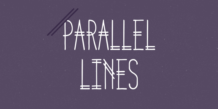 Parallel Lines Font poster