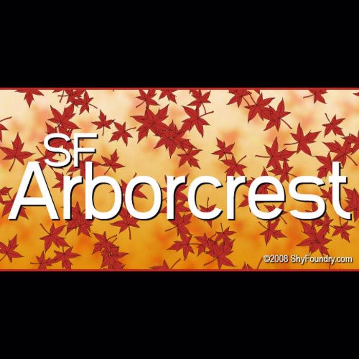 SF Arborcrest Medium Font poster