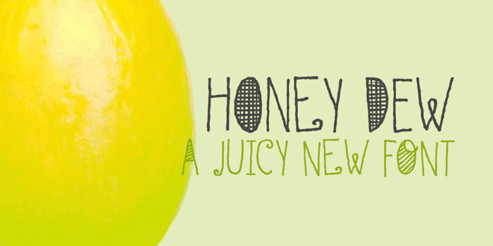 DK Honey Dew Font poster