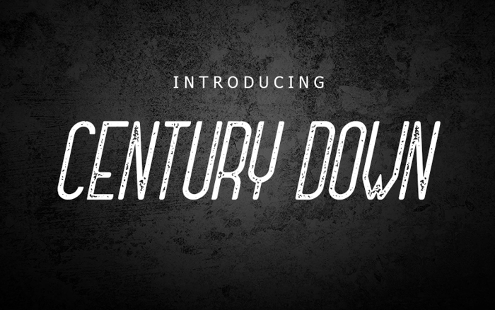 Century Down Font poster
