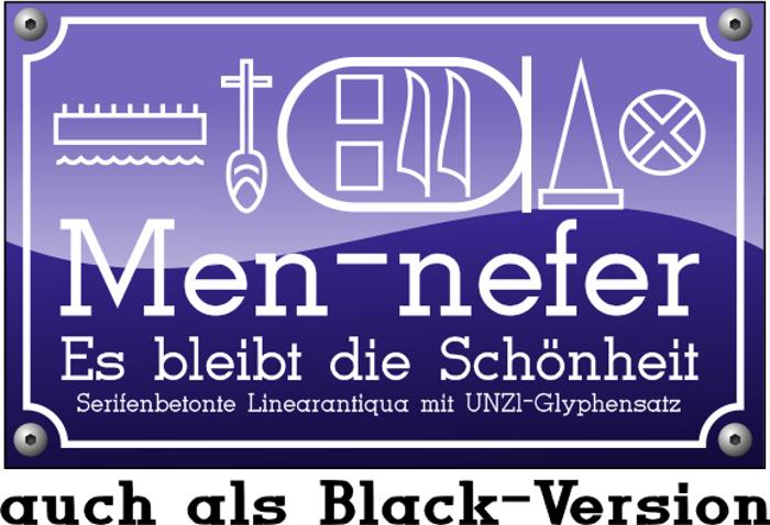 Men Nefer Font poster