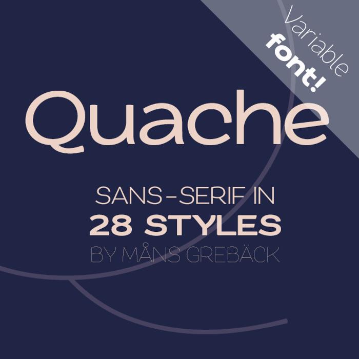 Quache Font poster