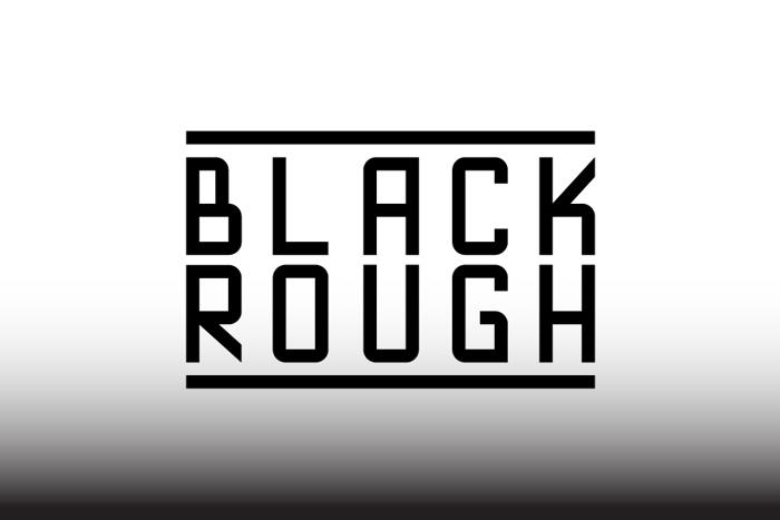 Blackrough Font poster