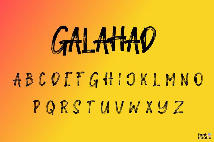 Galahad Font poster