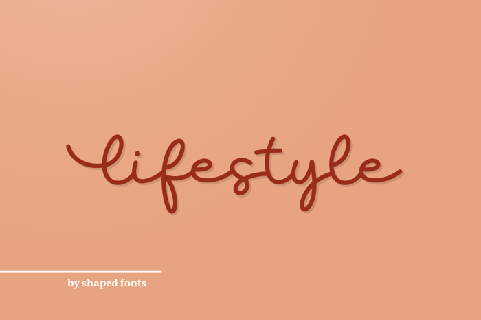 Lifestyle Font poster