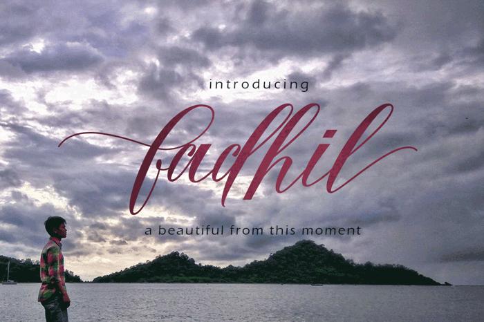 Fadhil free Font poster