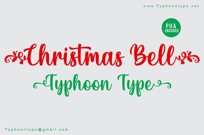 Christmas Bell Font poster