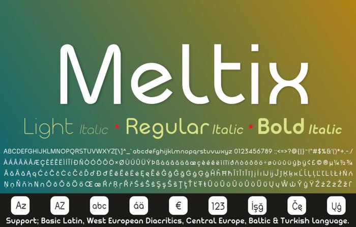 Meltix Bold Demo Font poster