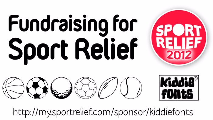 SPORT RELIEF Font poster
