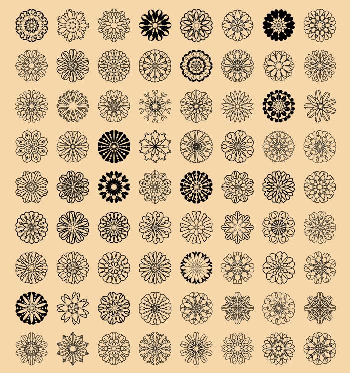 shapes Font poster